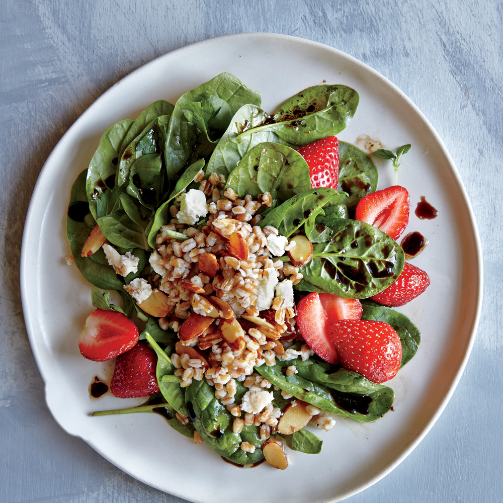 ck-Wheat Berry, Spinach, and Strawberry Salad Image