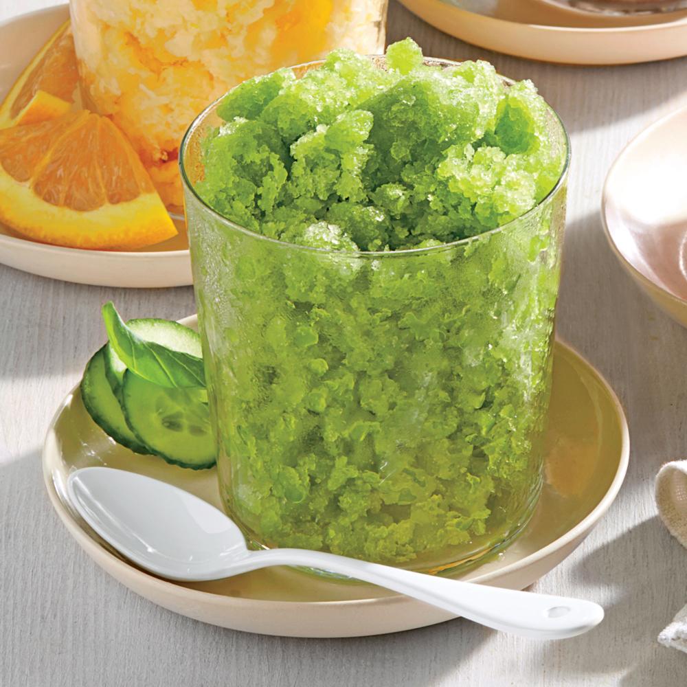 Cucumber-Basil Granita