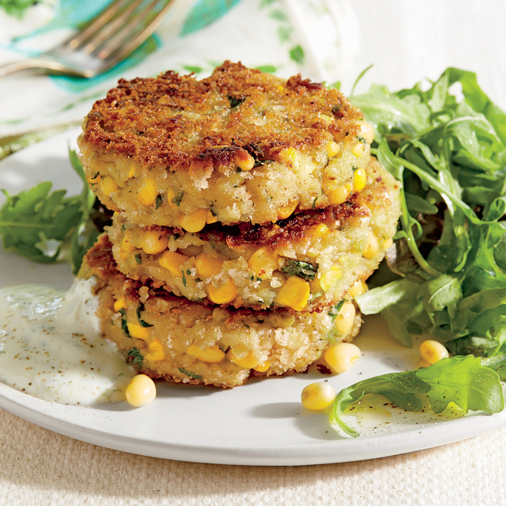 Lady Pea-and-Corn Patties
