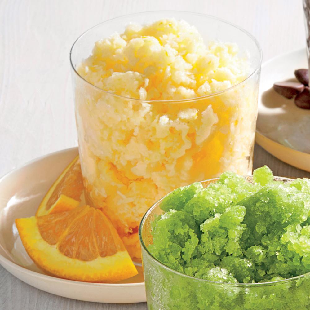 Orange Cream Granita