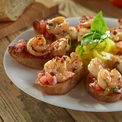 Grilled Shrimp Bruschetta