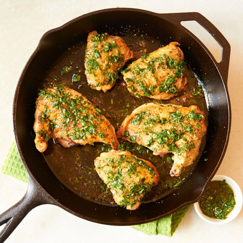 Gato Brick Chicken with Tarragon and Salsa Verde