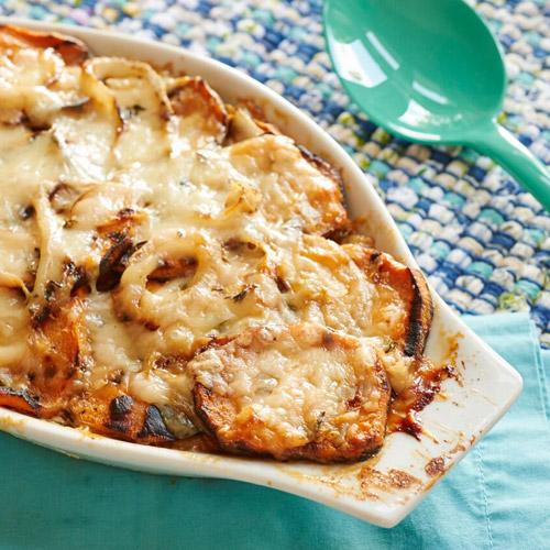 Sweet Potato-Onion Gratin