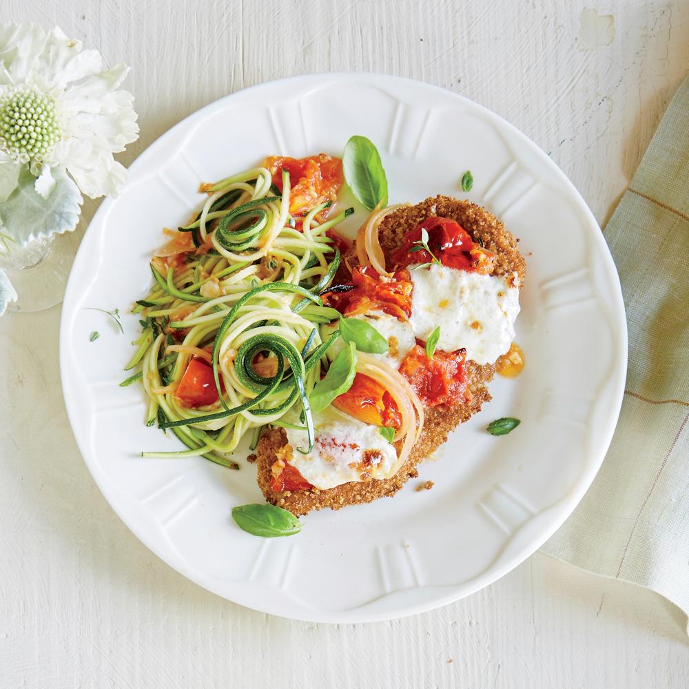 Chicken Parmesan Over Zucchini Noodles Recipe
