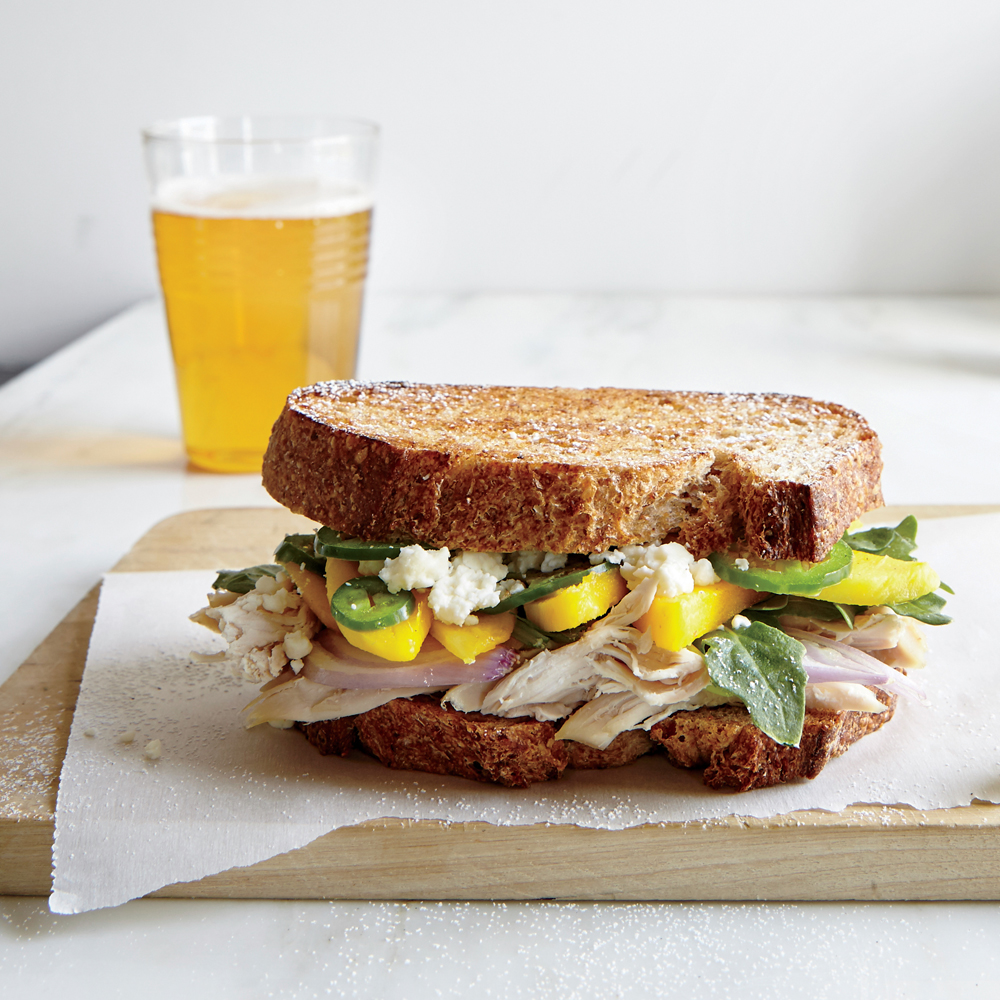 Griddled Chicken and Mango Sandwiches
