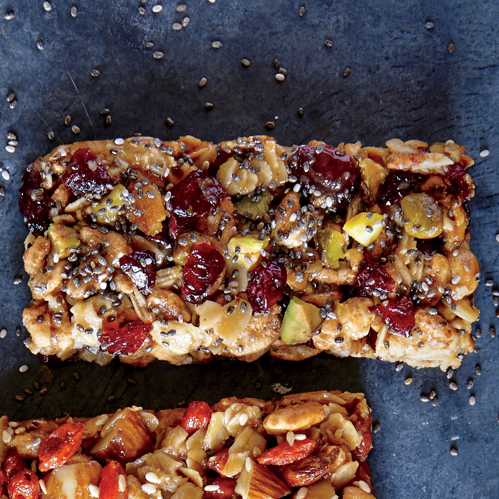Pistachio-Apple Bars with Chia Seeds