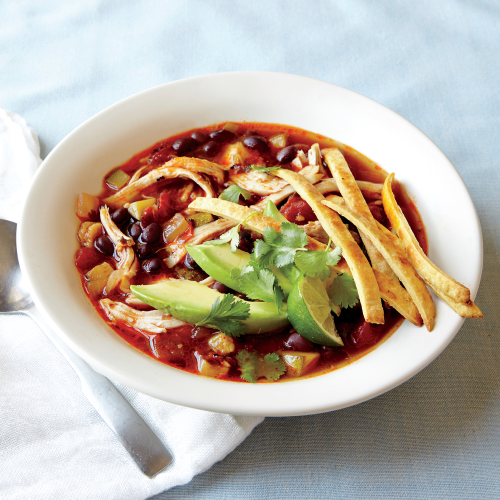 Shredded Chicken Tortilla Soup