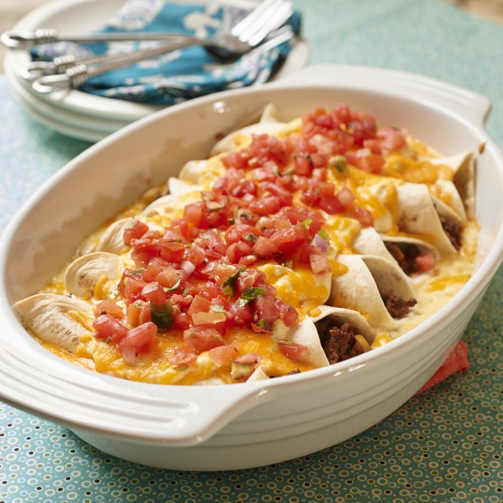 Garlic Beef Enchiladas Recipe: Smothered Enchiladas Recipe