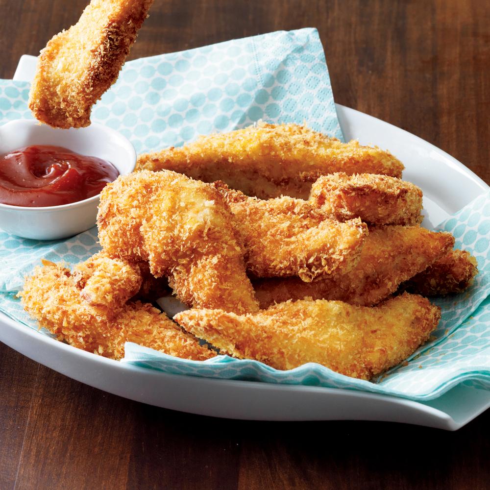 Buttermilk-Dipped Crunchy Chicken Fingers