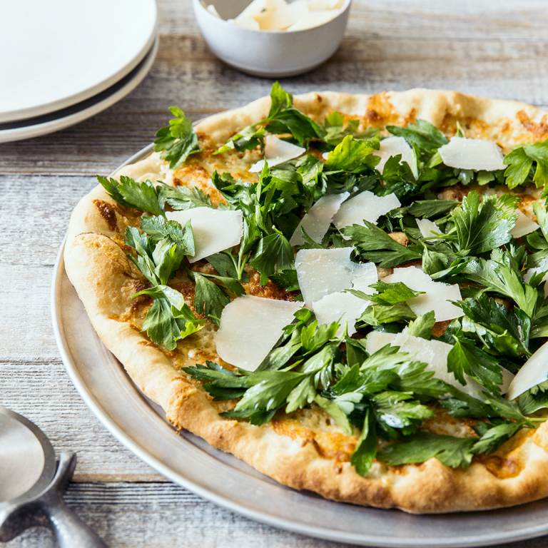 Pizzetta with Parsley Salad