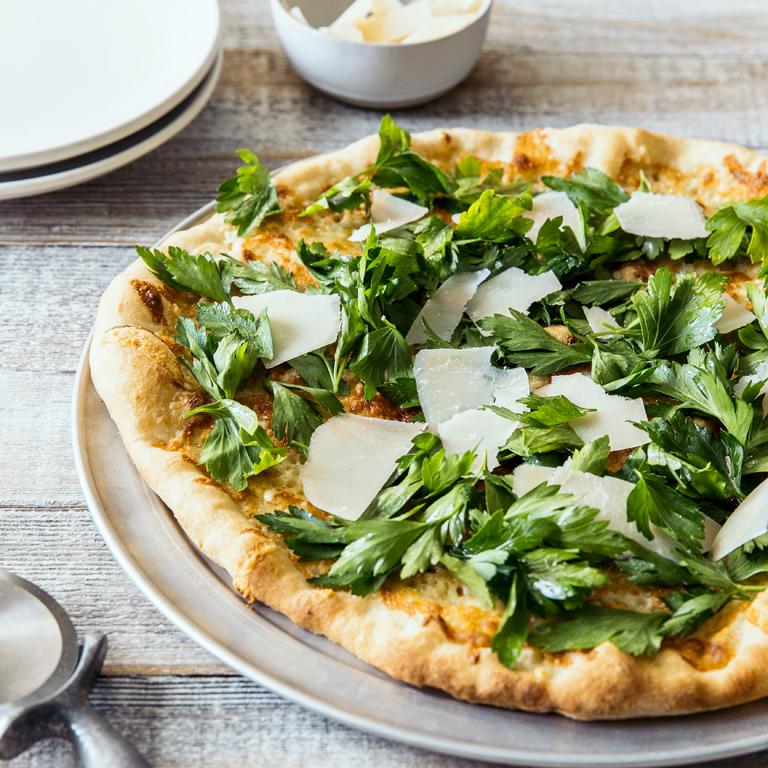 Pizzetta with Parsley Salad