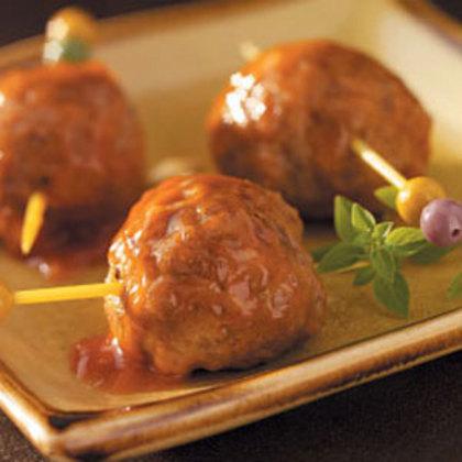Appetizer Meatballs Pork Sausage Amp Ground Beef Recipe Myrecipes
