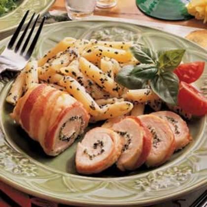 Bacon-Wrapped Chicken (Chive & Onion Cream Cheese Spread) Recipe - 0 ...