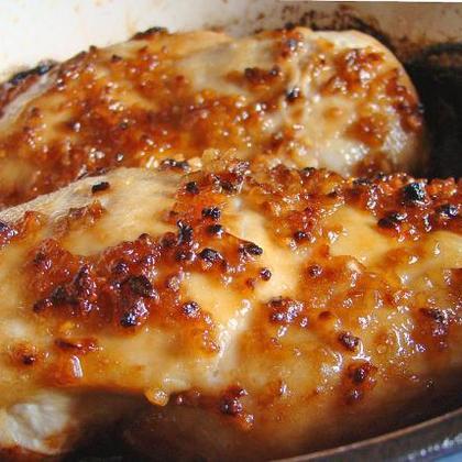 Cheesy Garlic Baked Chicken
