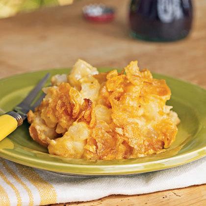 Cheesy Potato Casserole with Corn Flakes