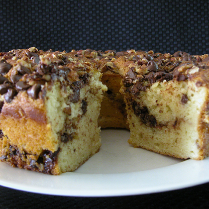 Chocolate Chip Sour Cream Coffee Cake Recipe | MyRecipes