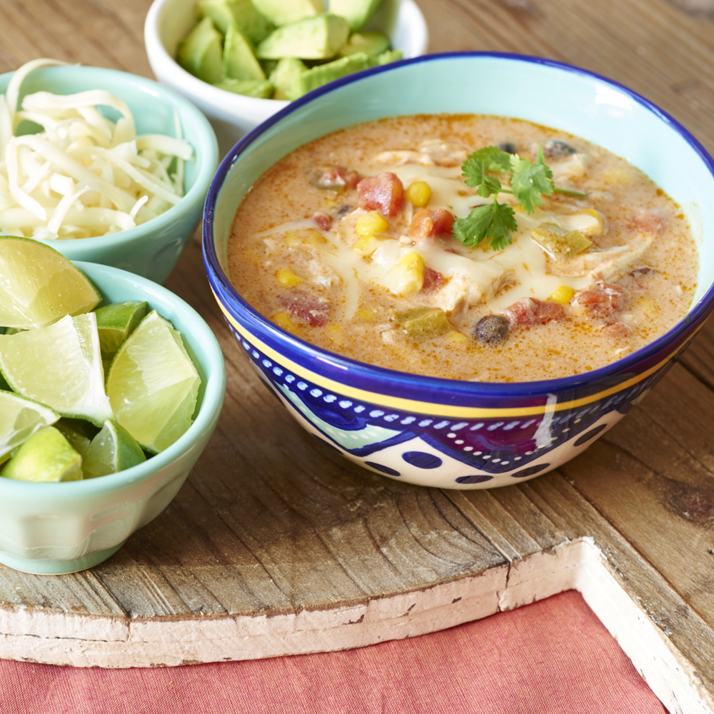 Crock Pot Chicken Enchilada Soup Recipe | MyRecipes