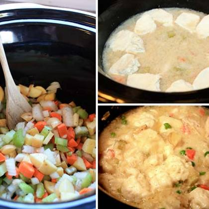 Easy Slow Cooker Chicken & Dumplings