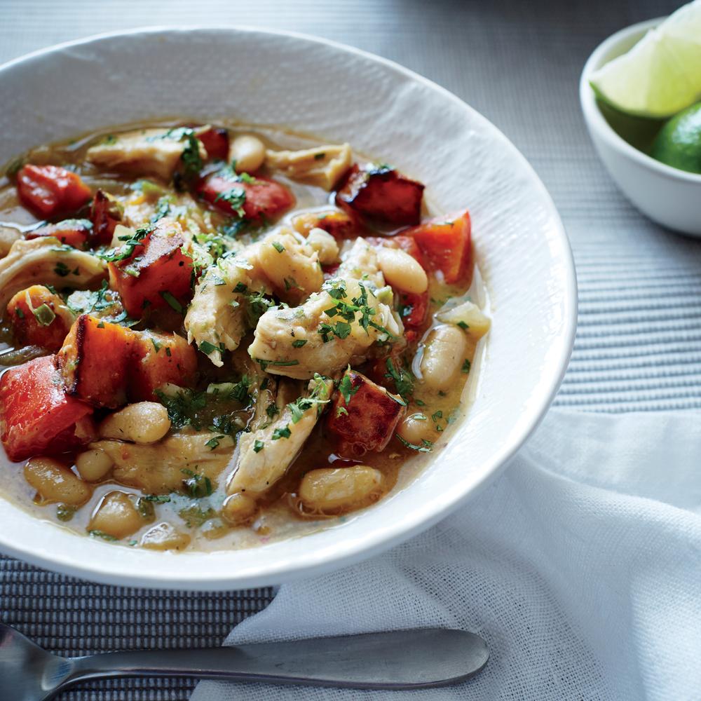 Fast Chicken Chili with Butternut Squash Recipe   MyRecipes.com