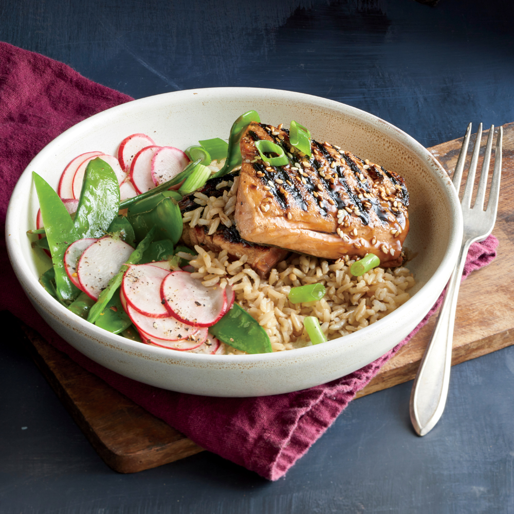 d06521ada195 Glazed Salmon and Rice Bowl Recipe