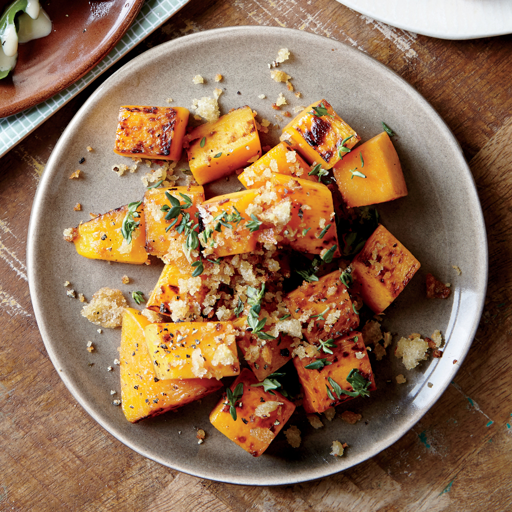 Roasted Butternut Squash & Parmesan-Garlic Breadcrumbs Recipe ...