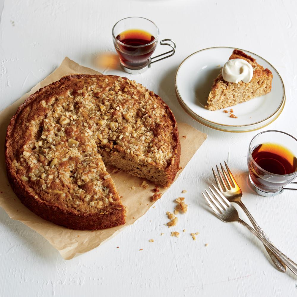 Whole-Grain Apple Cake with Yogurt Cream