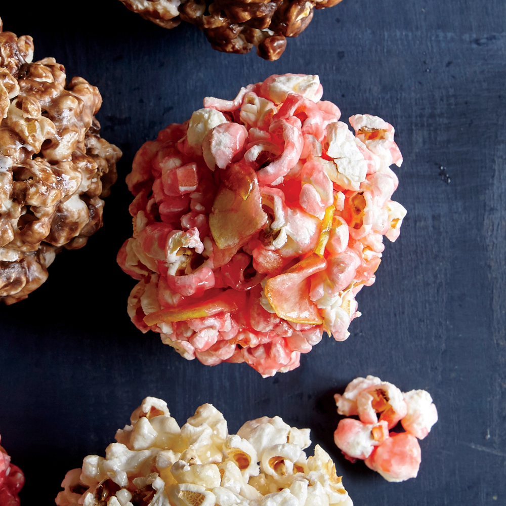 Candied Apple Popcorn Balls