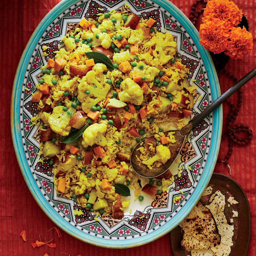 Tahiree Vegetable and Rice Casserole