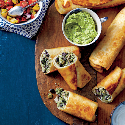 Cook With Confidence: Chicken-and-Black Bean Chimichangas