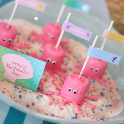 Octopus Marshmallow Pops (for Mermaid Party)