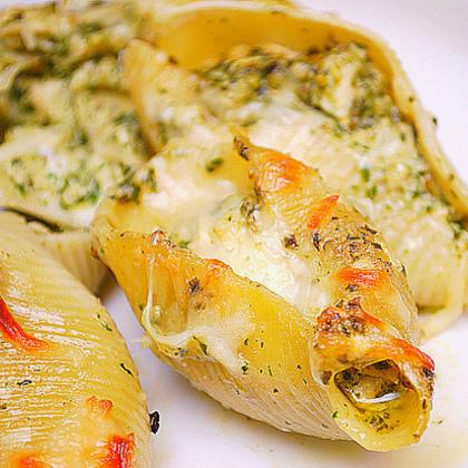 Pesto Chicken Stuffed Shells