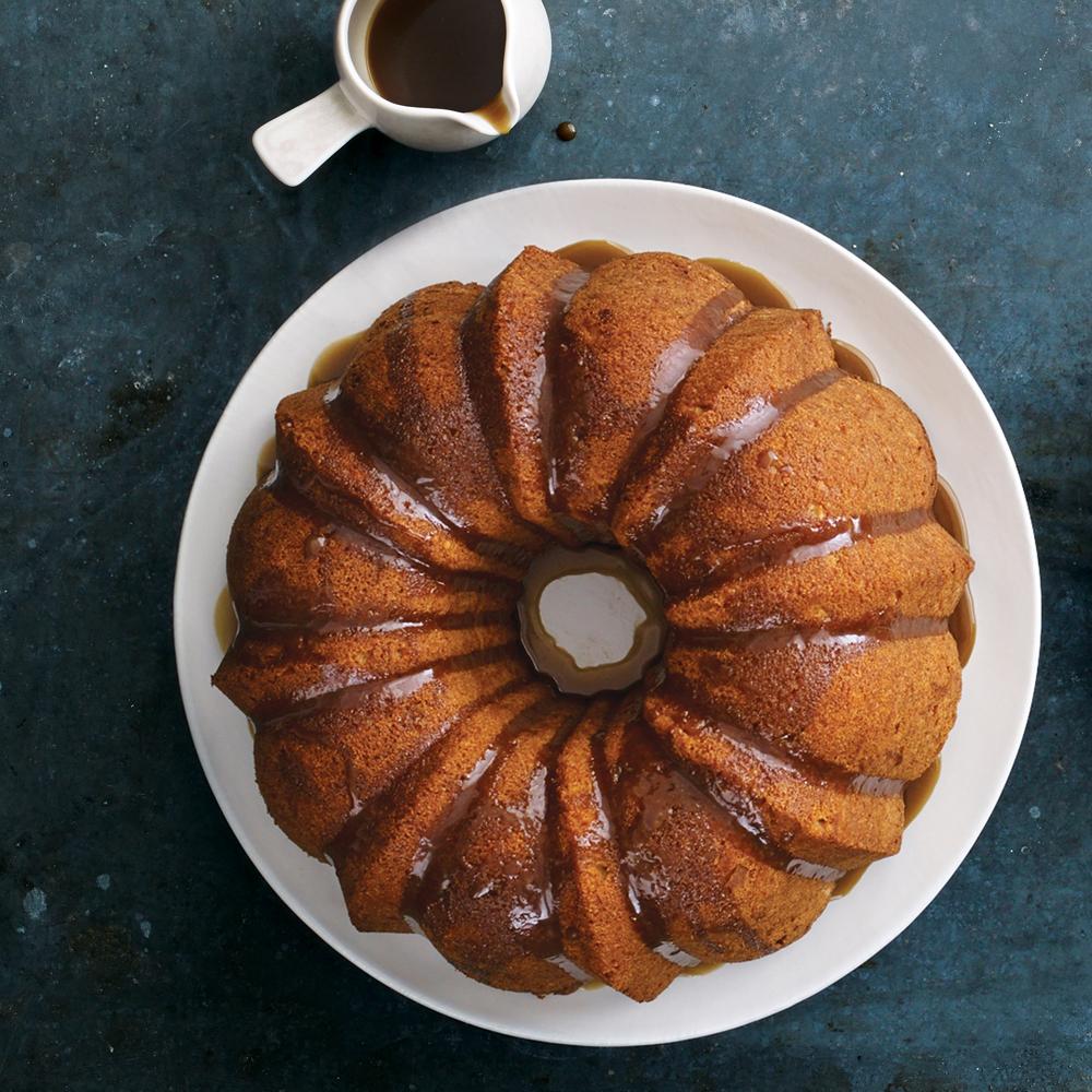 Apple Bundt Cake with Brown-Sugar Glaze