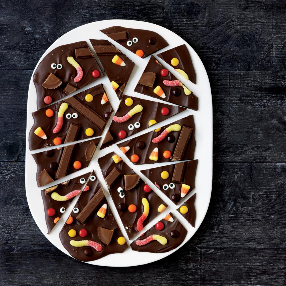 Haunted Chocolate Bark