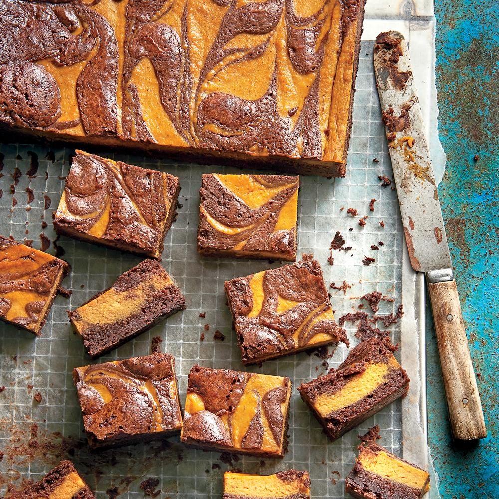 Pumpkin-Chocolate Brownies