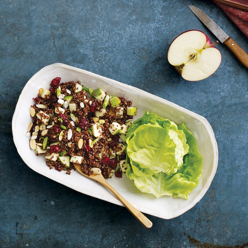 Quinoa Salad with Apples, Almonds and Dried Cranberries