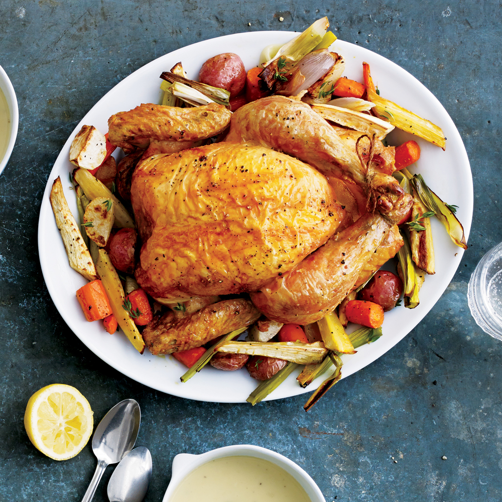 Roast Chicken With Vegetables Recipe Myrecipes