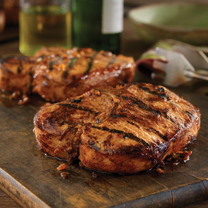 Grilled Bone-in Pork Chops with Hawaiian Marinade