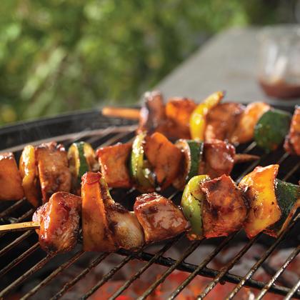 Easy, Breezy Honey-Chipotle Pork Kabobs