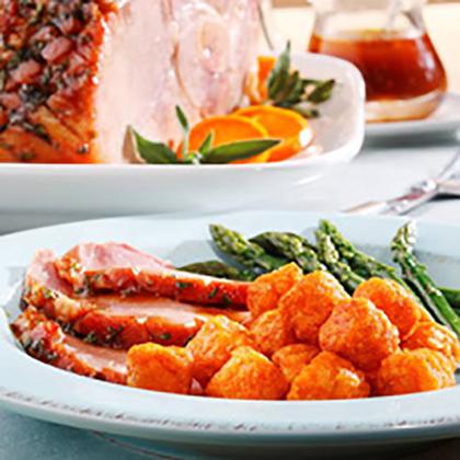 Tangerine Glazed Baked Ham