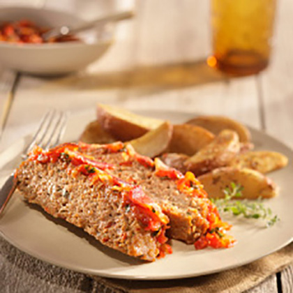 Ground Turkey Meatloaf with Tomato Relish