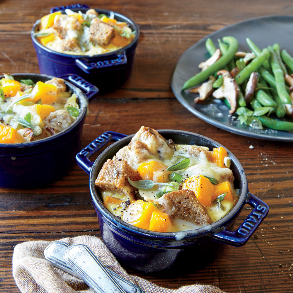 Butternut Stratas with Gruyère