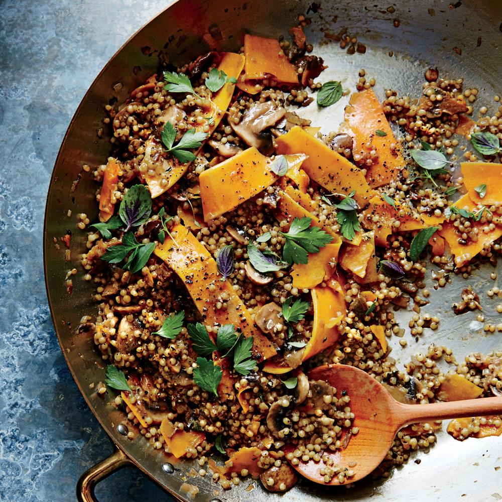 Cheesy Sorghum And Shaved Squash Pilaf Recipe