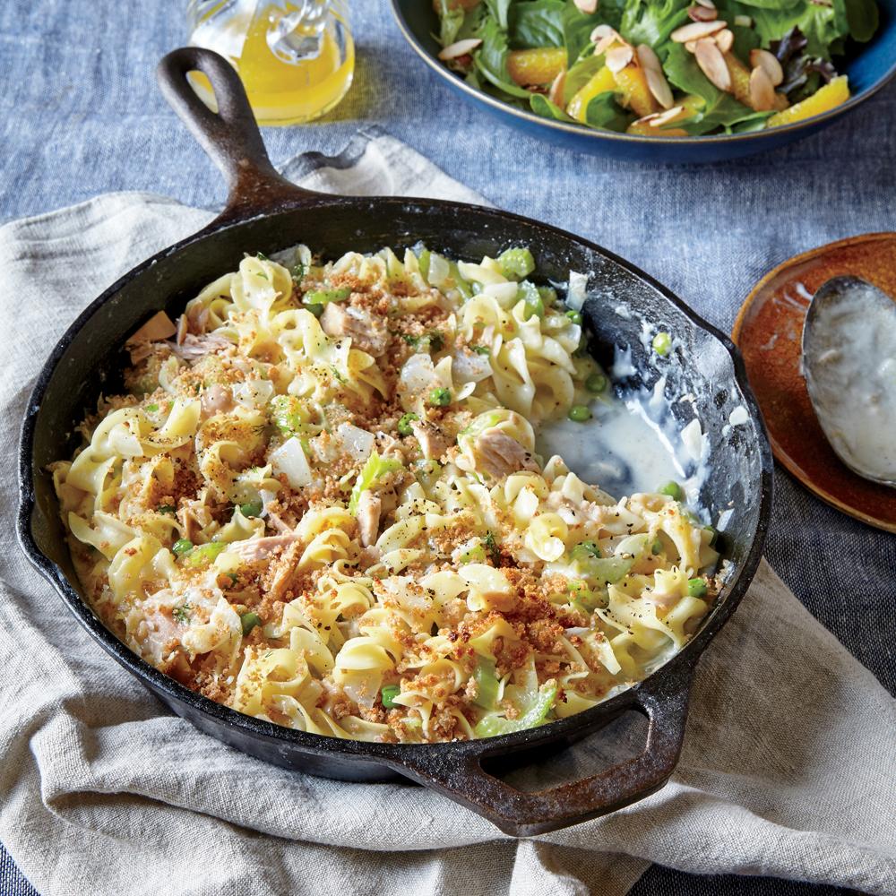 Creamy Tuna Noodle Casserole & Peas & Breadcrumbs Recipe ...
