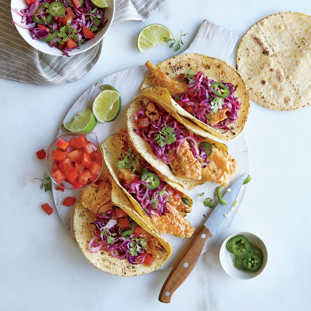 Crispy Tilapia Tacos