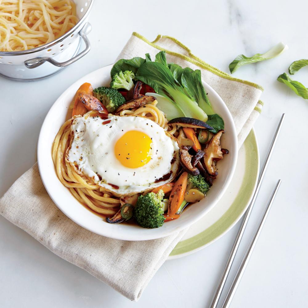 Egg Noodle Stir-Fry with Broccoli