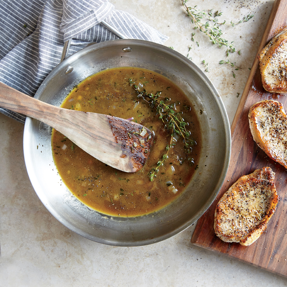 Pork Chops with Thyme Pan Sauce