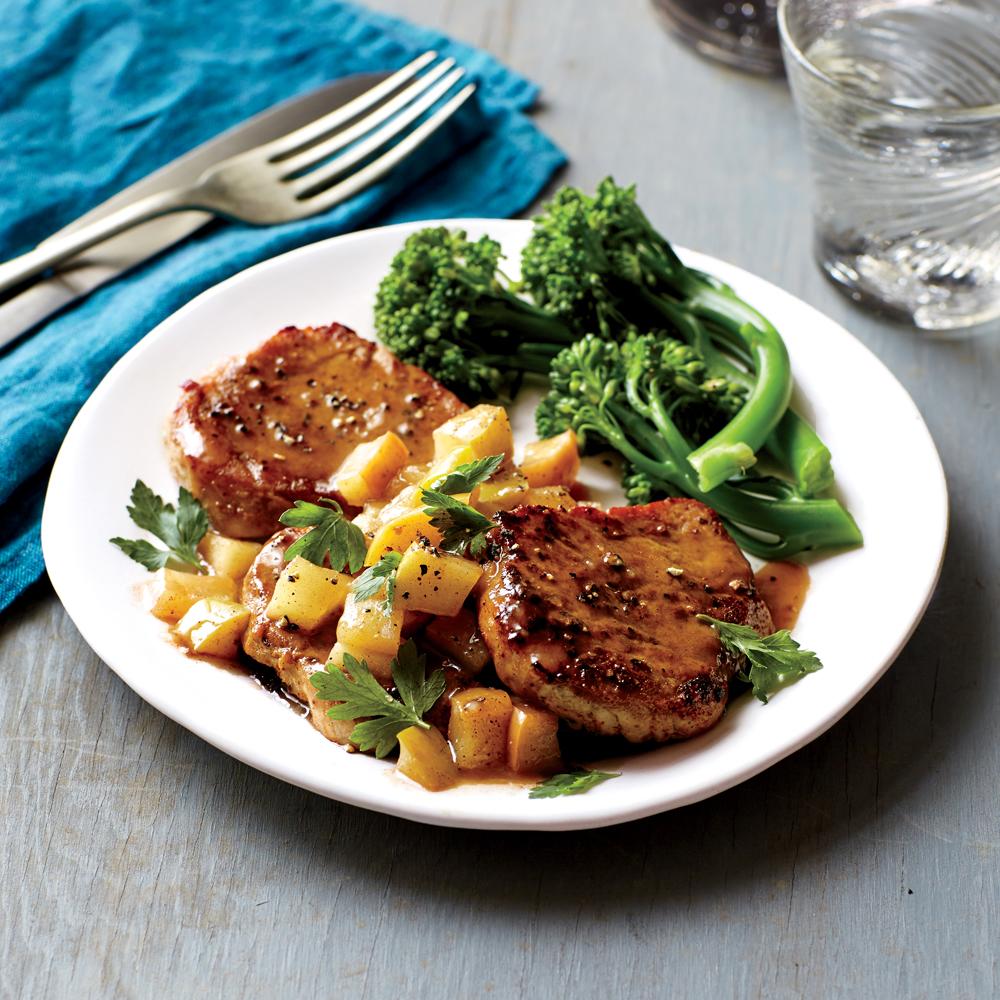 Pork chop cooked in applesauce recipe