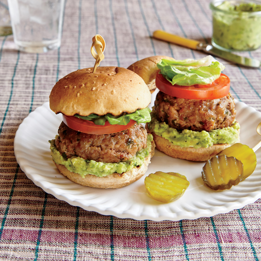 Pork Sliders with Smashed Avocado