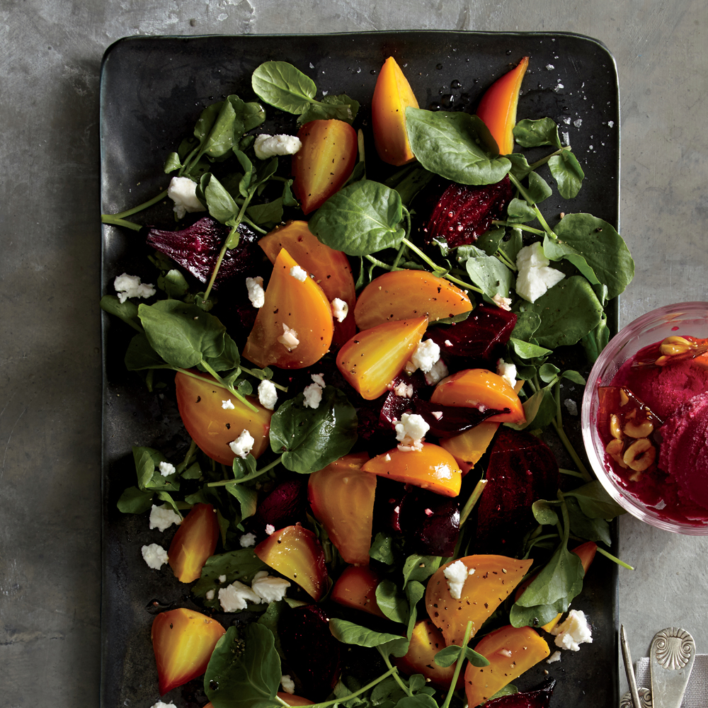 Thanksgiving Cocktails: Roasted Red And Golden Beet Salad Recipe