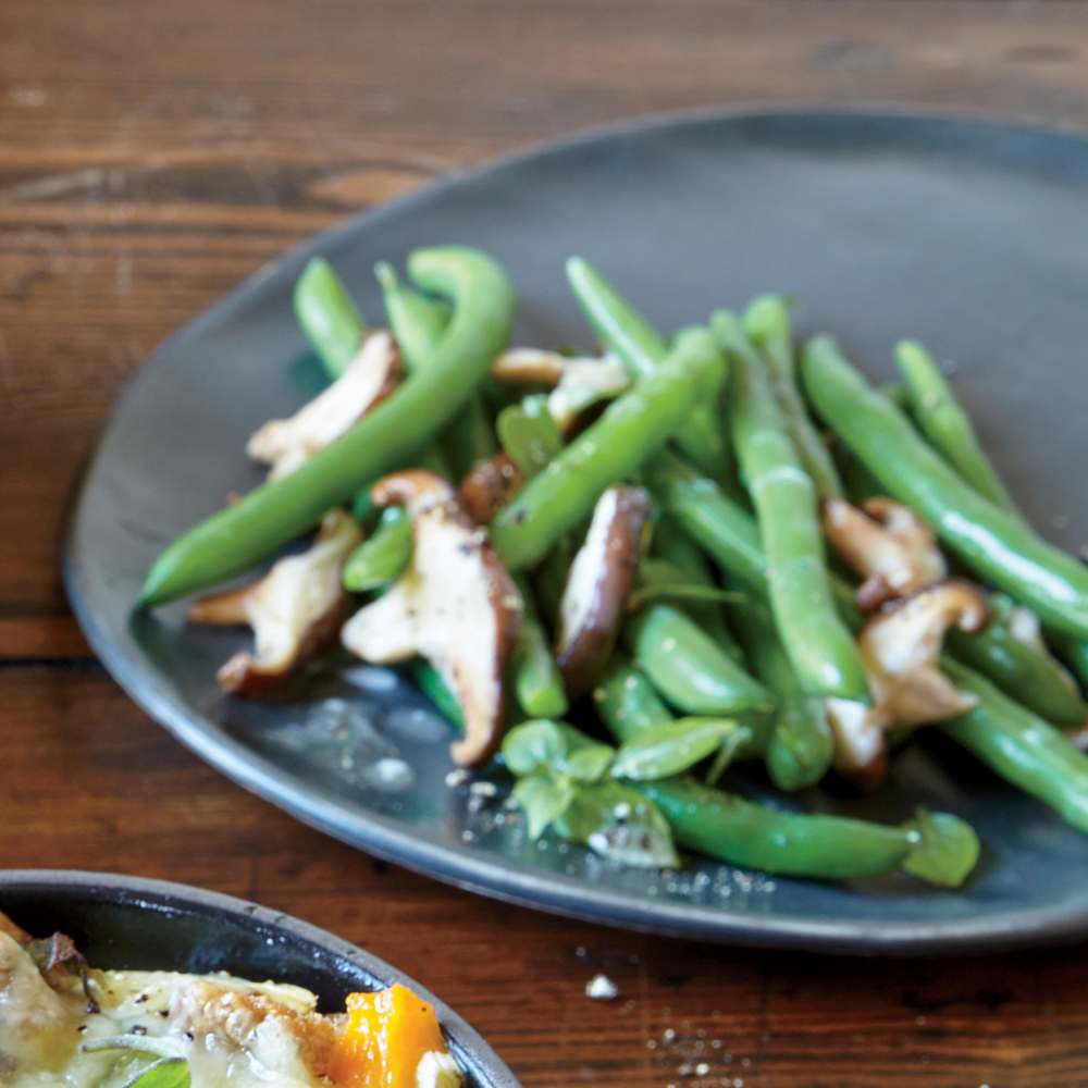 Sautéed Green Beans and Mushrooms Recipe | MyRecipes